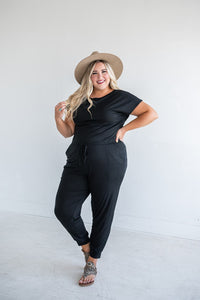 Carefree Girl Jumpsuit- Black