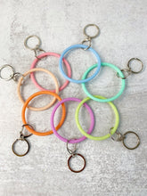 Bracelet Key Ring: Slim Silicone and Glitter