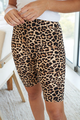 Empowered Women Leopard Print Biker Shorts