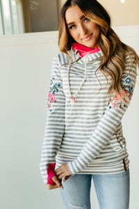 Ampersand Avenue Doubhood Sweatshirt - Meadow Lane