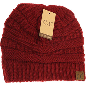 C.C Brand 'Classic Cable Knit' Beanie's