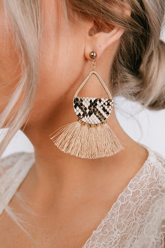 Boho Print Earrings