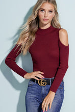 Cold Shoulder Knit Top - 2 Colors