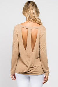 Camel T-Back Top - SkyDenae Boutique