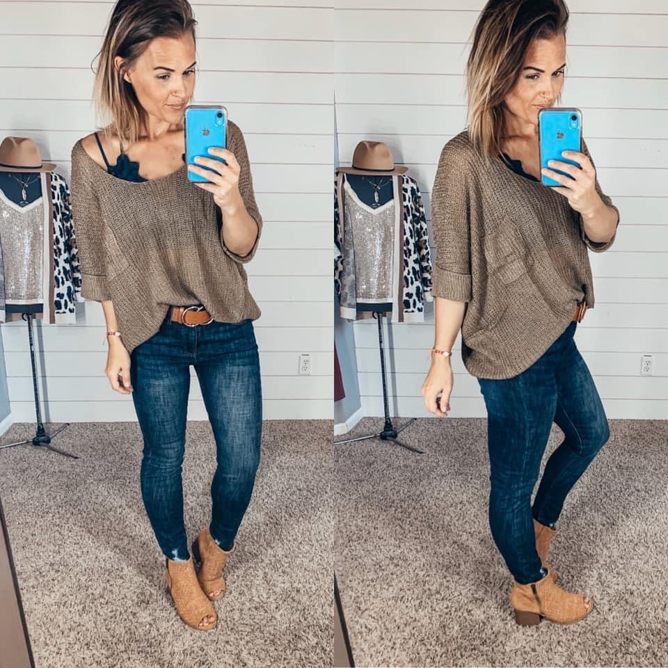 Off Shoulder Sweater SMALL