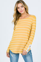 Lace me up striped top - 2 colors