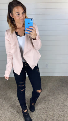 Suede Moto Lapel Jacket - 2 colors