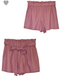 Solid PaperBag Shorts - 2 colors