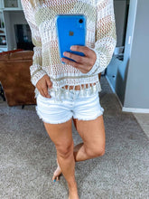 White Denim Shorts - SkyDenae Boutique