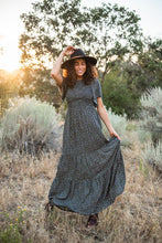 Forever Young Floral Maxi Dress- Black