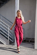 Feel The Sun Jumpsuit- Wine