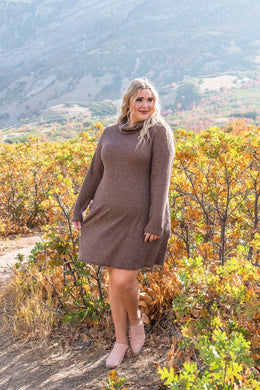 Completely Obsessed Cowl Neck Dress