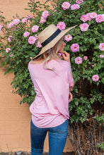 Season's Of Love Drape Top- Dusty Pink