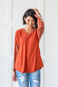Watch Me Bloom Contrast Top