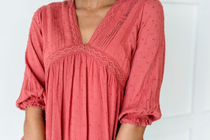 Chic And Boho Babydoll Top