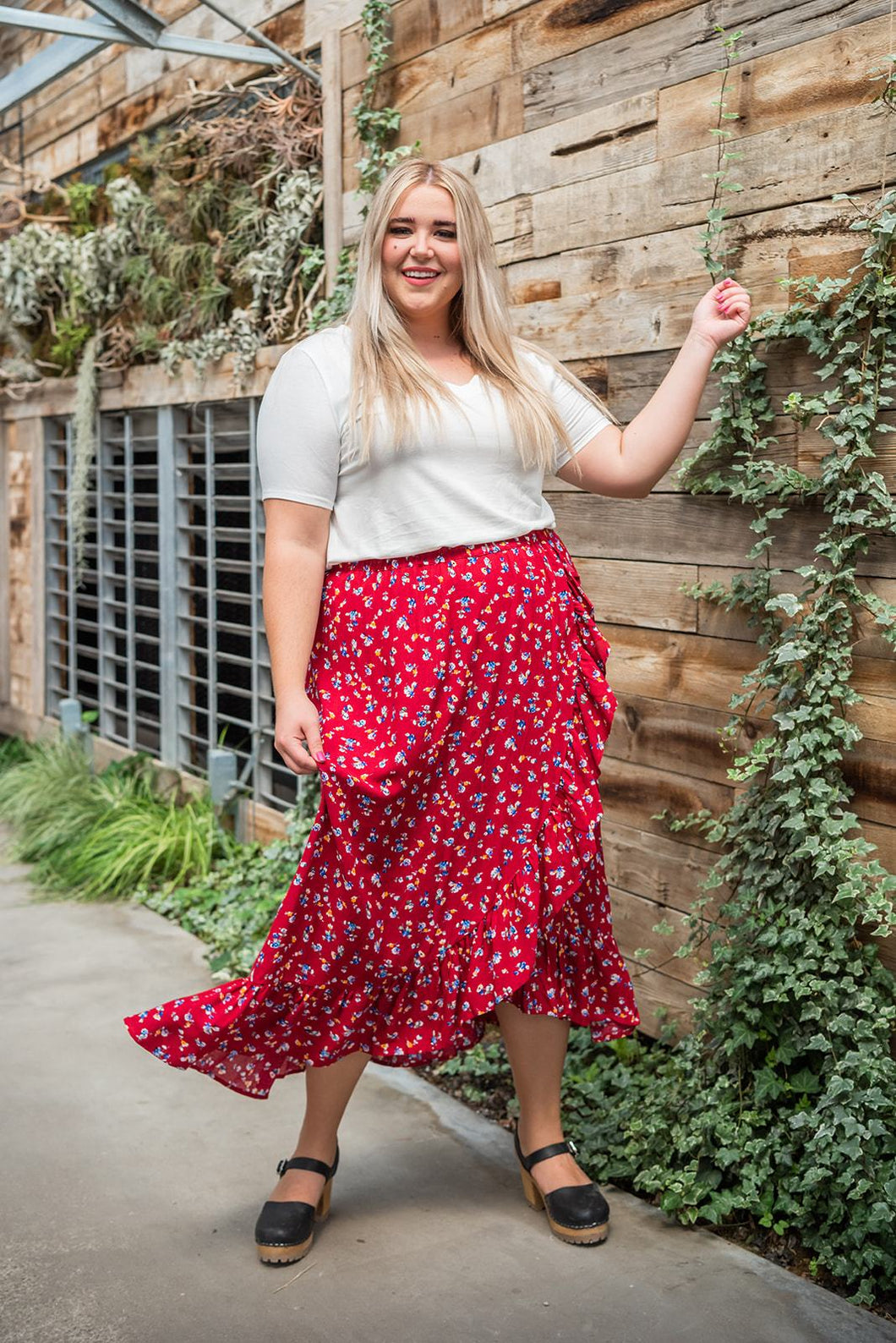 Good Vibes Ruffle Skirt