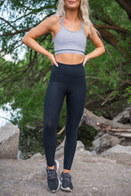 Jacquard Black Active Leggings