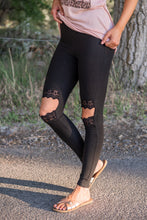 Pins and Needles Lace Cut Out Leggings