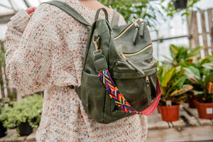 Guitar Strap Backpack- Olive