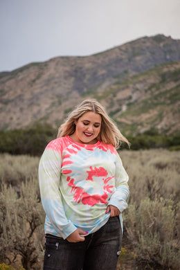 Fabulous Choice Spiral Tie Dye Pullover