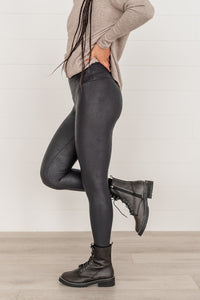 You'll Be Back Faux Leather Leggings