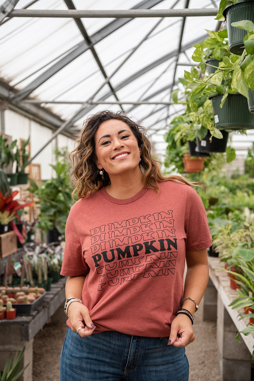 Stacked Pumpkin Retro Graphic Tee
