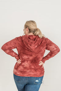 Dye Happy Ampersand Half Zip- Burgundy