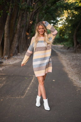My Heart Beats Fast Sweater Dress