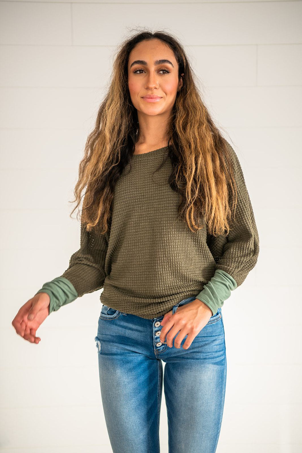 You've Got It All Waffle Knit Top