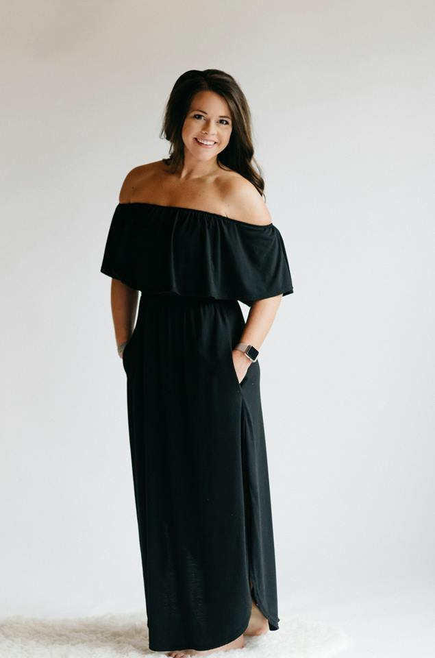Off Shoulder Summer Casual Long Ruffle Beach Maxi Dress with Pockets - 2 colors - SkyDenae Boutique