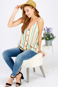 Striped Linen Tank - SkyDenae Boutique