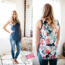 Floral Back Tanks - 3 Colors