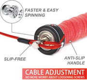 Speed Jump Rope-2 Adjustable Cable Rope