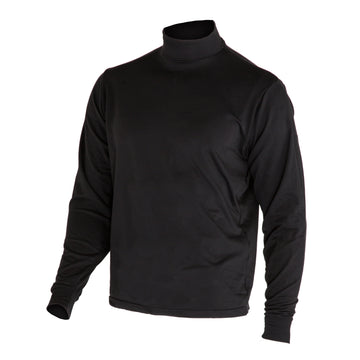 NAVY Black Mock Turtleneck