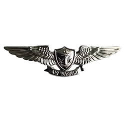 NAVY Mirror Finish Badge Device - Miniature Air Warfare Badge Silver