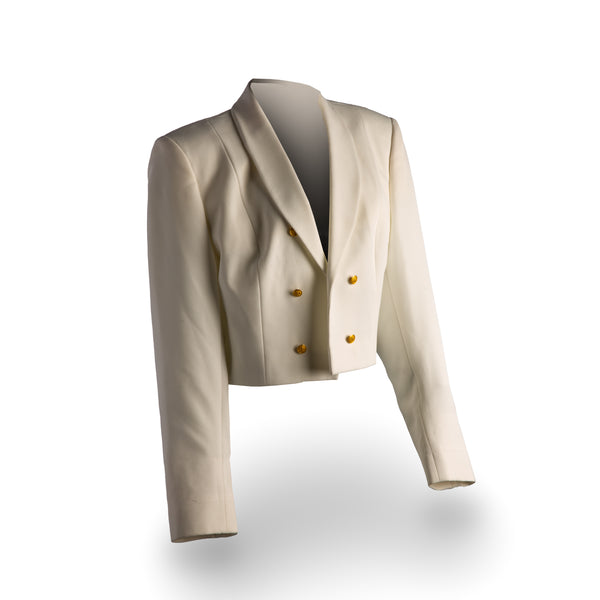 NAVY Women's Formal Dress White Jacket w/Gold Buttons