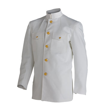 "NAVY Men's Service Dress White ""Choker"" Jacket"