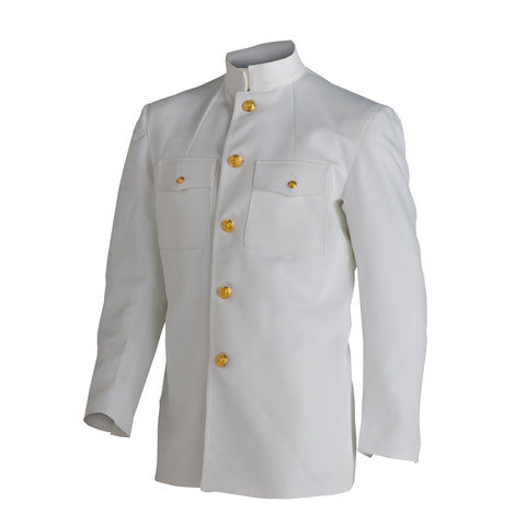 "US Navy Men's Service Dress White ""Choker"" Jacket"
