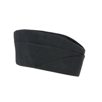 NAVY Black Poly/Wool Garrison Cap
