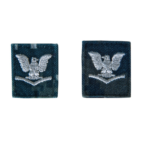 U.S. Navy Collar Device - E4 3rd Class - NWU Type 1 - Set of 2