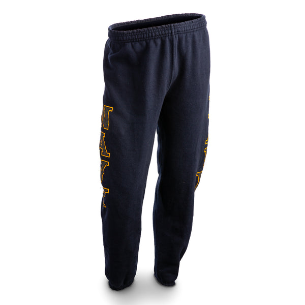 NAVY PT Sweat Pants - Blue/Yellow