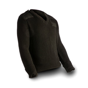 US Navy Men's Black Wool Sweater