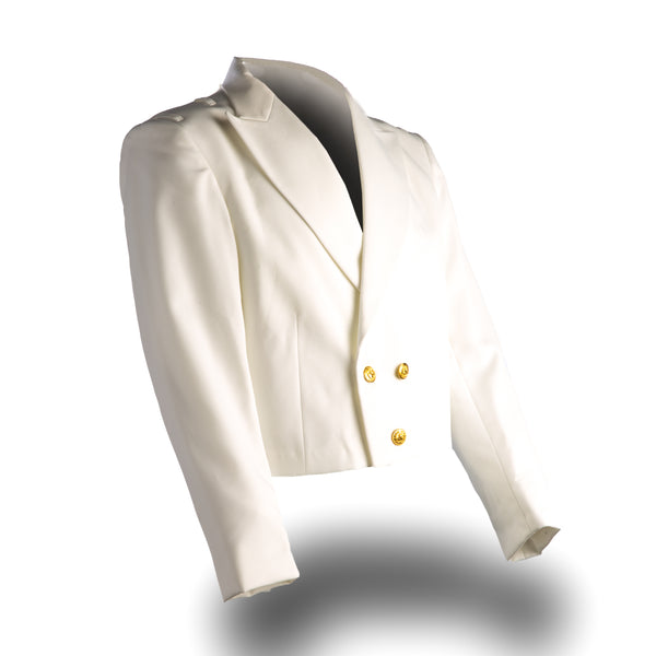 NAVY Men's Dinner Dress White Jacket, Gold Buttons