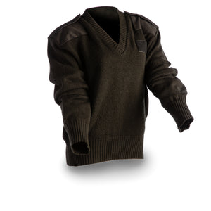 US Navy Men's Black Acrylic Sweater