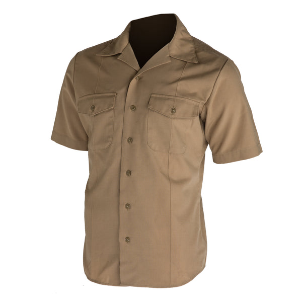 NAVY Men's Khaki Poly/Wool Shirt - Officer/ CPO