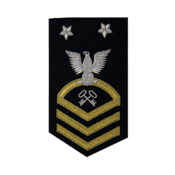 NAVY Men's (E9) Master Chief Petty Officer Rating Badge -Logistics Specialist