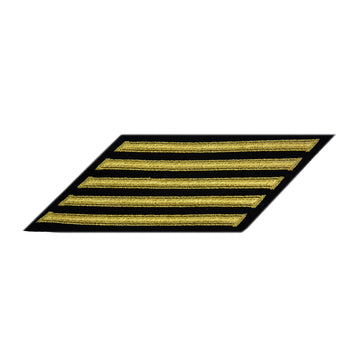 NAVY Men's Service Stripes CPO: 5 Stripes - Gold & Blue Poly wool