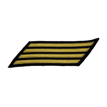 NAVY Men's Service Stripes CPO: 4 Stripes - Gold & Blue Poly wool