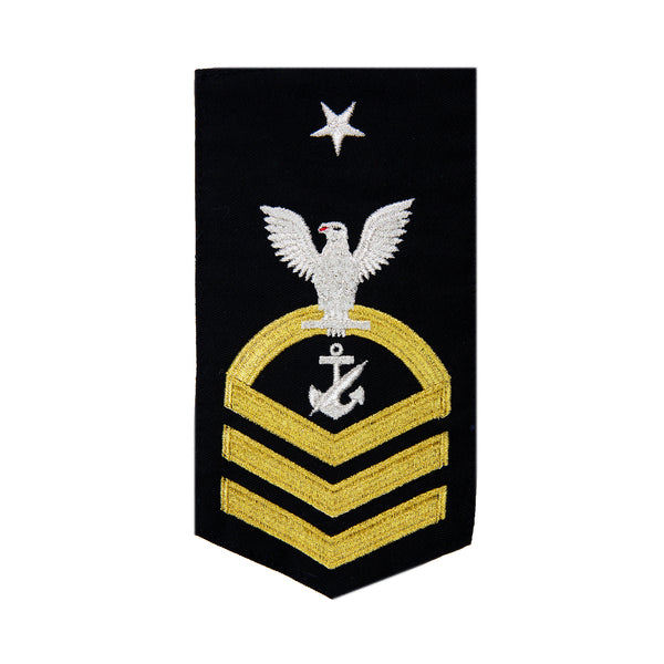 NAVY Men's (E8) Senior Chief Petty Officer Rating Badge -Navy Counselor