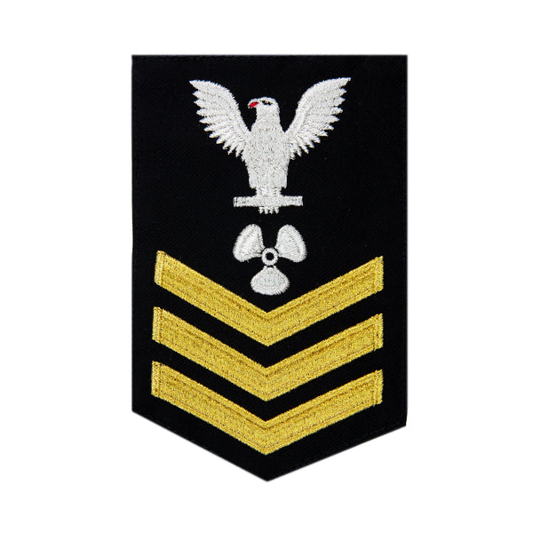 NAVY Men's (E6) Rating Badge for Machinist Mate